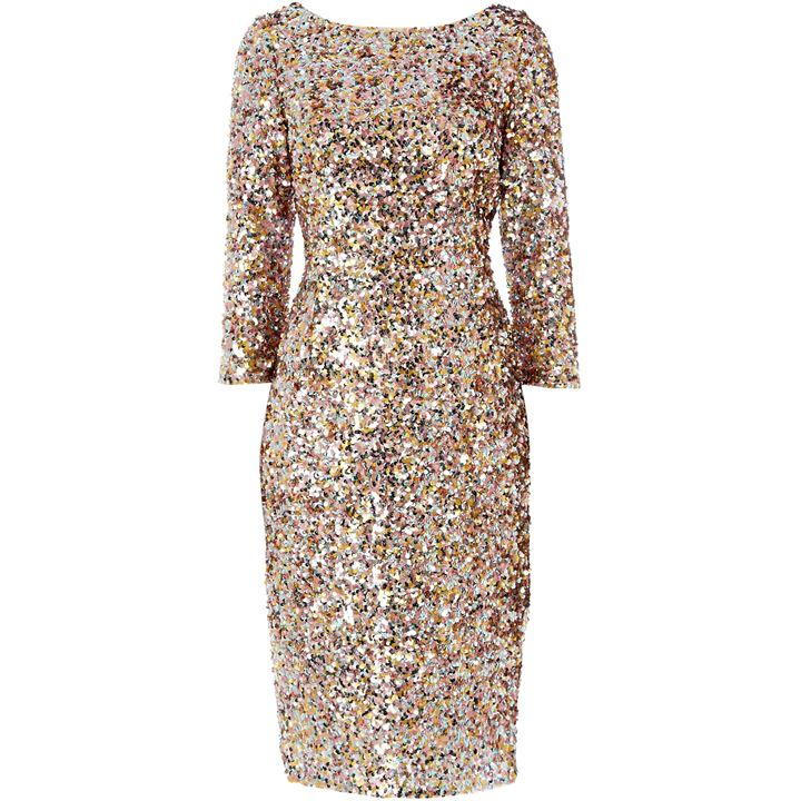 Colored sequin dress